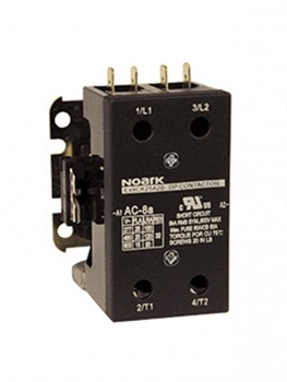 EX9CK40B20U7 (240/50-60VAC)...DEFINITE PURPOSE CONTACTOR, 2-POLE, 240/50-60VAC, 40AMPS