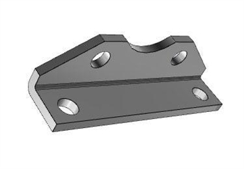 AIRTAC Mounting bracket for NSU series, MS1 type foot mounting for 4 inch bore cylinders