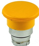 RB2-BC5...40 MM MUSHROOM HEAD PUSH BUTTON, SPRING RETURN, NON-ILLUMINATED, YELLOW COLOR