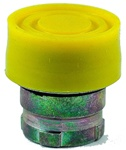 RB2-BP5...BOOTED PUSH BUTTON, SPRING RETURN, IP66, NON-ILLUMINATED, YELLOW COLOR