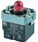 RB2-BVL74-12AC/DC...PILOT LIGHT BODY ASSEMBLY, 12AC/DC, INTEGRAL CIRCUIT & CLUSTER LED, RED COLOR