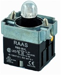 RB2-BVL75-24AC/DC...PILOT LIGHT BODY ASSEMBLY, 24AC/DC, INTEGRAL CIRCUIT & CLUSTER LED, AMBER COLOR