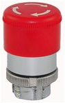 RM2-BS44...MUSHROOM HEAD METAL PUSH BUTTON, TURN TO RELEASE, 30MM, RED COLOR