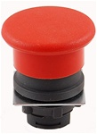 RP2-BC4...MUSHROOM HEAD PLASTIC PUSH BUTTON, SPRING RETURN, RED COLOR