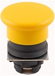 RP2-BC5...MUSHROOM HEAD PLASTIC PUSH BUTTON, SPRING RETURN, YELLOW COLOR