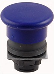 RP2-BC6...MUSHROOM HEAD PLASTIC PUSH BUTTON, SPRING RETURN, BLUE COLOR