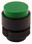 RP2-BL3...PROJECTING PLASTIC PUSH BUTTON, SPRING RETURN, GREEN COLOR