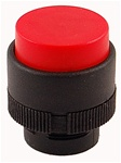 RP2-BL4...PROJECTING PLASTIC PUSH BUTTON, SPRING RETURN, RED COLOR