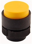 RP2-BL5...PROJECTING PLASTIC PUSH BUTTON, SPRING RETURN, YELLOW COLOR