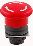 RP2-BS54...MUSHROOM HEAD PLASTIC PUSH BUTTON, TURN TO RELEASE TYPE, RED COLOR, 40MM KNOB SIZE