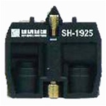 "SH-1925...CONTACT BLOCK AIR VALVE,3-WAY PASSING,10/32"" NPTF THREADS"