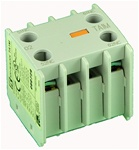 TA1-M20...AUXILIARY CONTACT BLOCKS, FRONT MOUNTING, 2 NORMALLY OPEN, 0 NORMALLY CLOSED CONTACTS