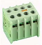 TA1-M40...AUXILIARY CONTACT BLOCKS, FRONT MOUNTING, 4 NORMALLY OPEN, 0 NORMALLY CLOSED CONTACTS